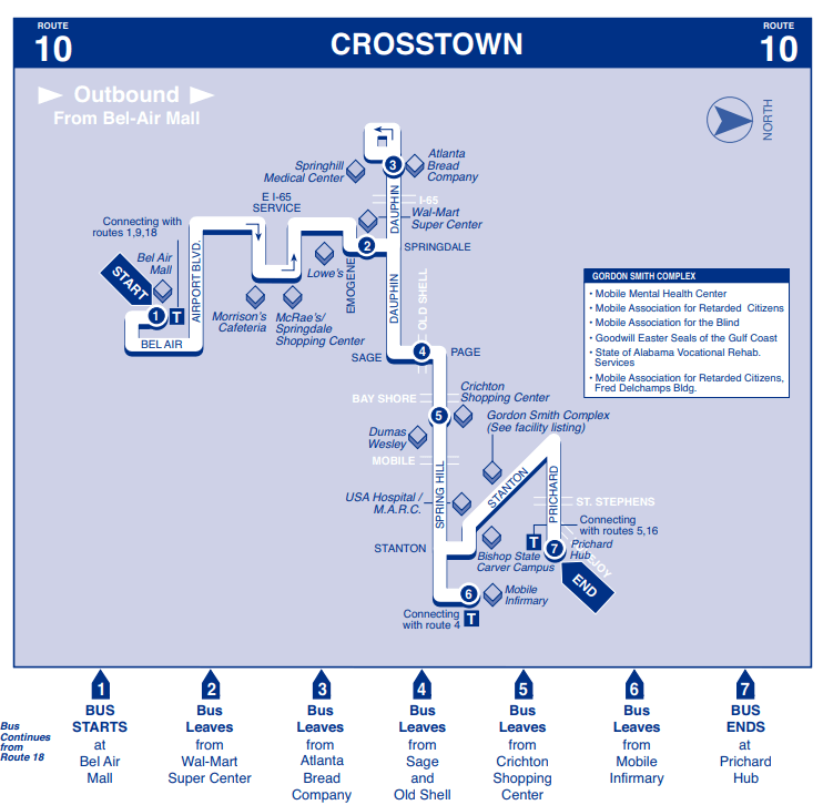 Crosstown Outbound Map