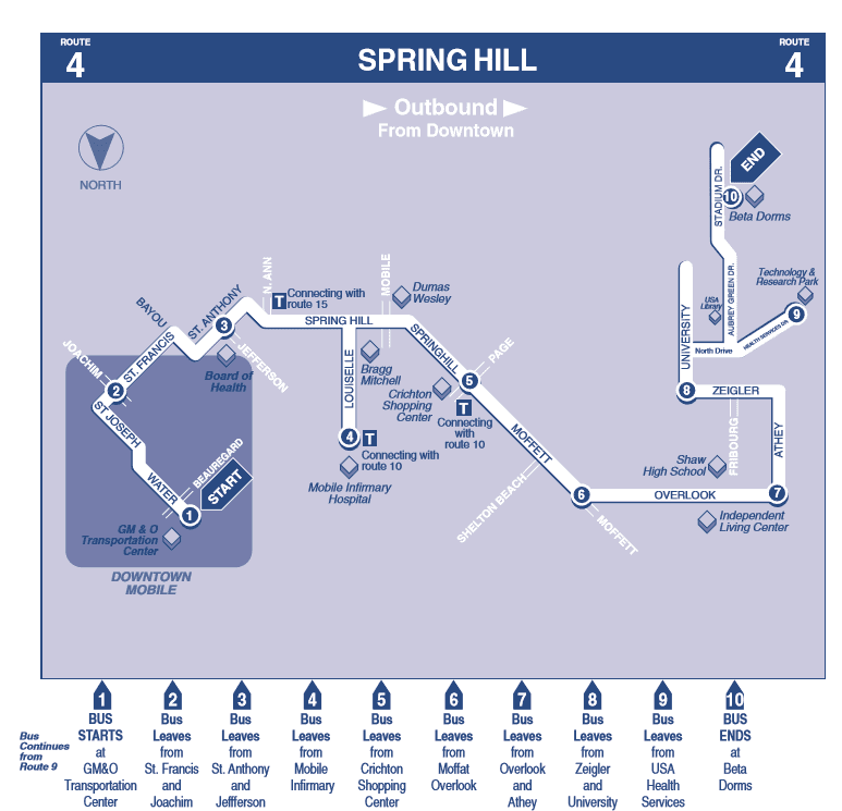 Spring Hill Outbound map