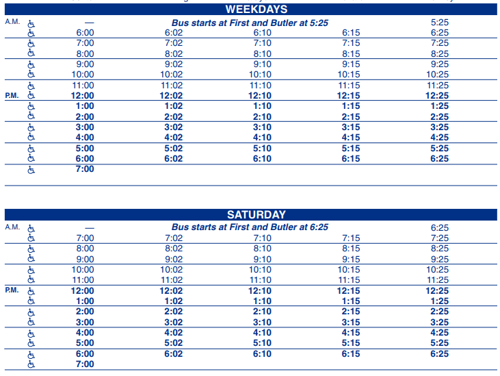 Highway 45 Outbound schedule