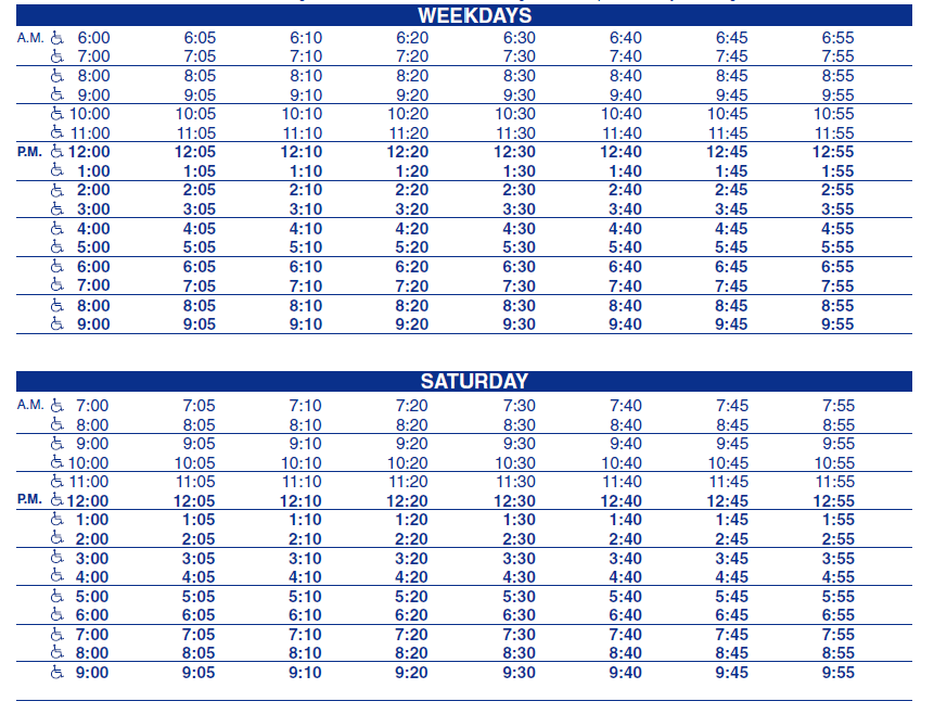 Broad Southside Bel Air Mall Outbound Schedule