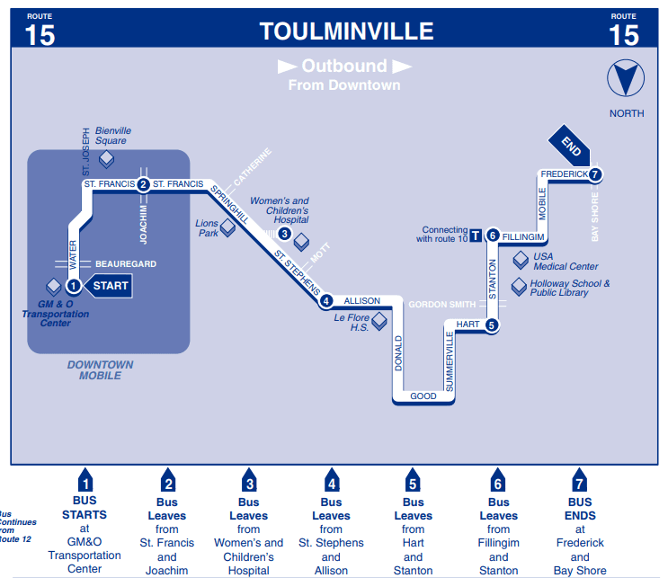 Toulminville Outbound Map